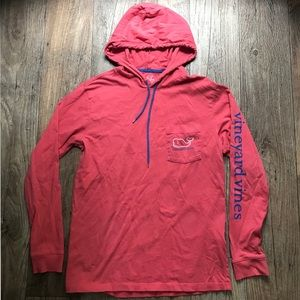 Vineyard Vines Long Sleeve Hooded Logo Tee